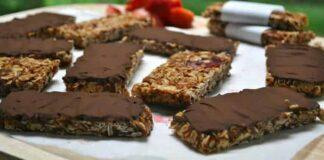 Barres de céréales et chocolat