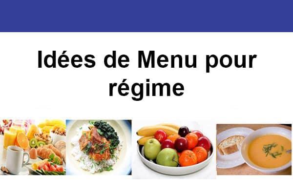Idées de Menu pour régime