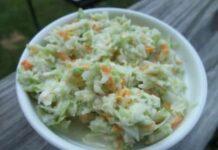 salade de chou coleslaw avec thermomix