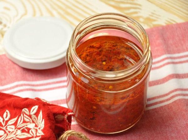 Sauce Harissa fait maison avec Thermomix