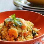 Couscous de crevettes aux légumes Weight watchers