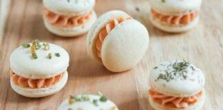 Macarons salés à la mousse de saumon