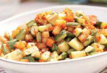 Poêlée de courgettes et pomme de terre