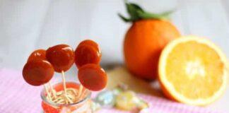 sucettes à l'orange