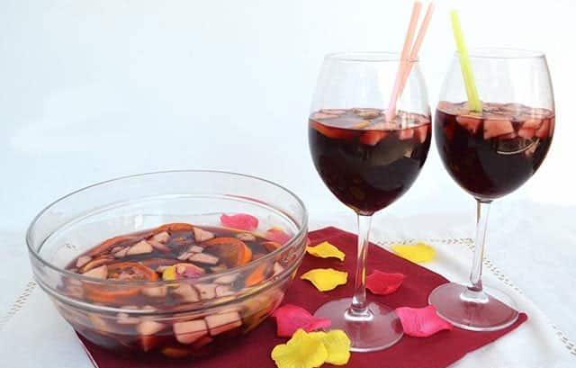Cocktail Sangria légère Weight watchers