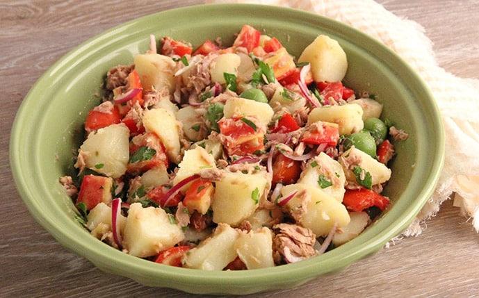 Salade de pommes de terre au thon Weight Watchers