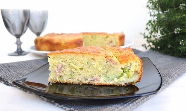 Gâteau salé aux 7 pots aux courgettes et jambon