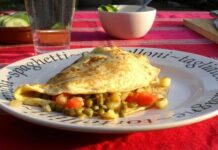 Omelette aux légumes Weight watchers