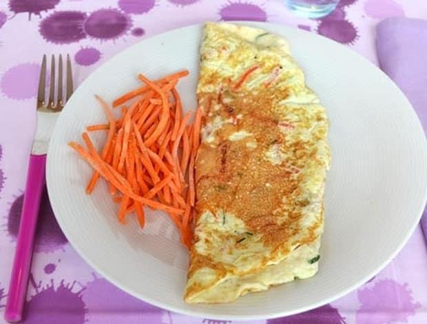 Omelette aux blancs d'oeufs et carottes