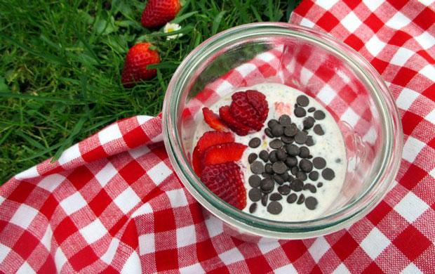 Porridge d'été aux fraises