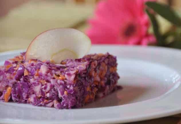 Salade de chou rouge avec Thermomix