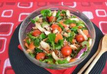 salade de poulet et d'épeautre