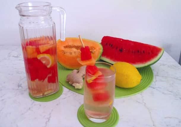 Eau DETOX à la Pastèque et Melon