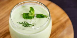 Soupe froide de concombre à la menthe avec Thermomix