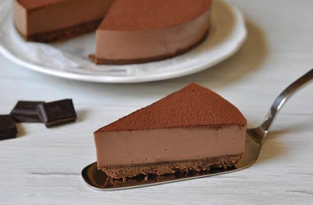 Cheesecake au chocolat noir avec Thermomix