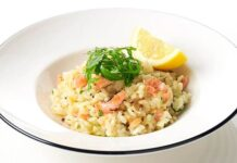 Risotto saumon et oignons Weight Watchers