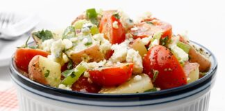 Salade de pommes de terre et tomates Weight Watchers