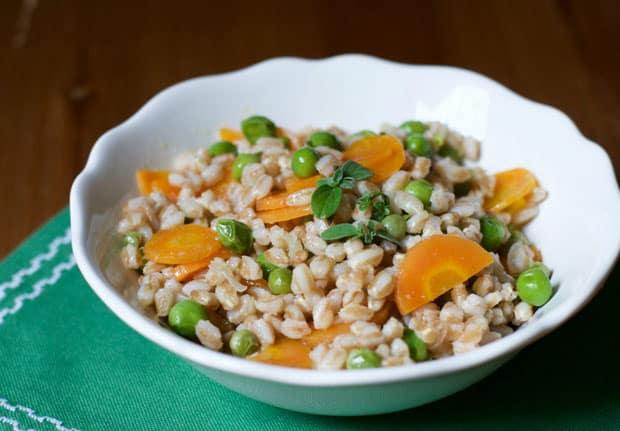 salade d'orge aux légumes légère