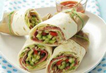 Warps au salami et légumes Weight Watchers