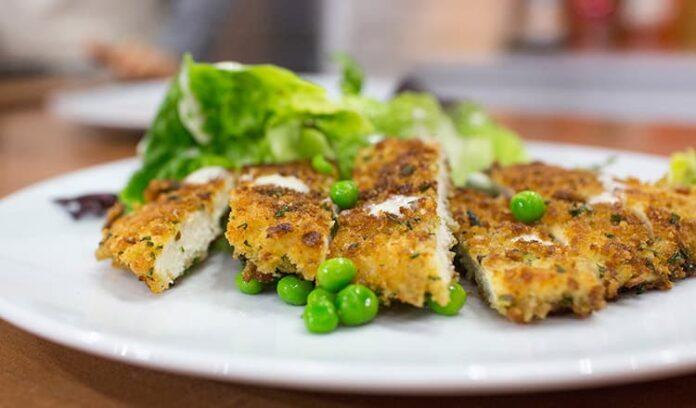 Escalope de poulet aux petits pois avec Cookéo