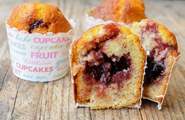 Muffins cœur confiture au Thermomix