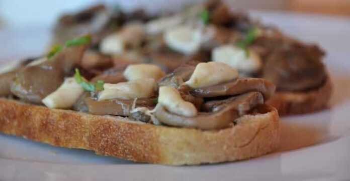 Toasts aux champignons et au fromage avec Thermomix