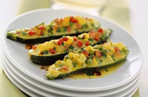 courgettes farcies aux petits légumes légères