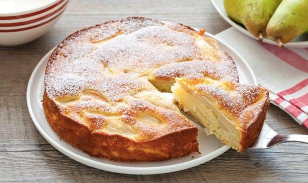 Gâteau invisible aux poires léger
