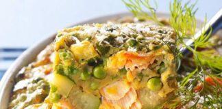 Gratin au Saumon et Légumes léger