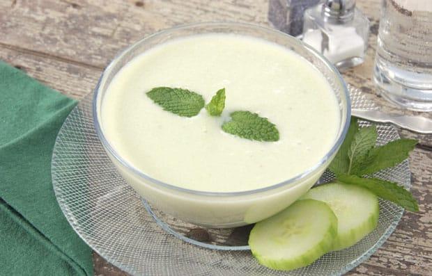 Soupe au yaourt et concombre au Thermomix
