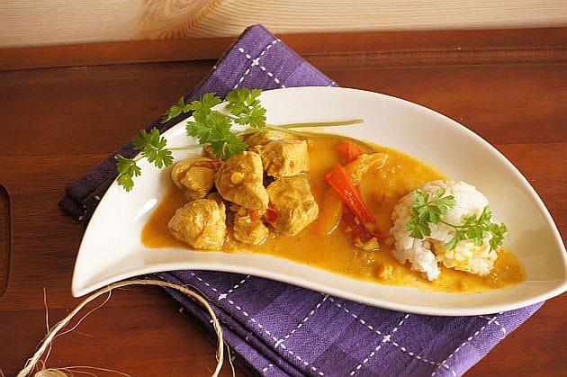 Poulet au curry et aux lentilles avec Thermomix