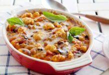 Gratin de gnocchis aux tomates et origan léger