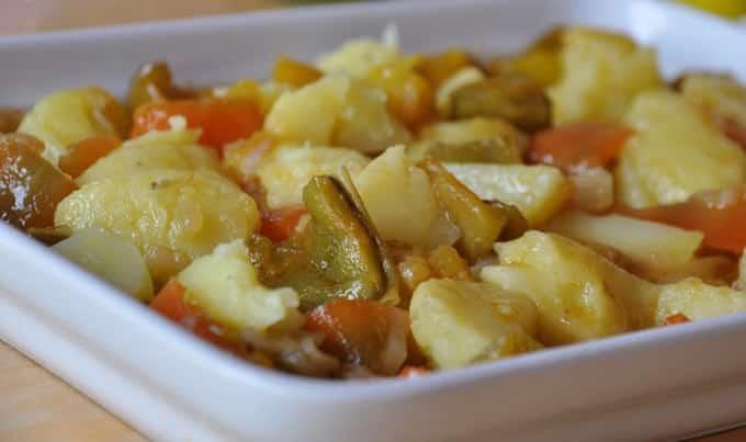 Salade de poivron et de pomme de terre avec Thermomix