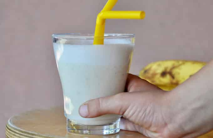 Smoothie banane et confiture avec Thermomix