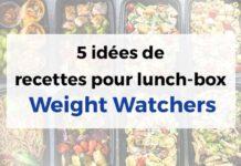 5 idées de recettes pour lunch-box Weight Watchers