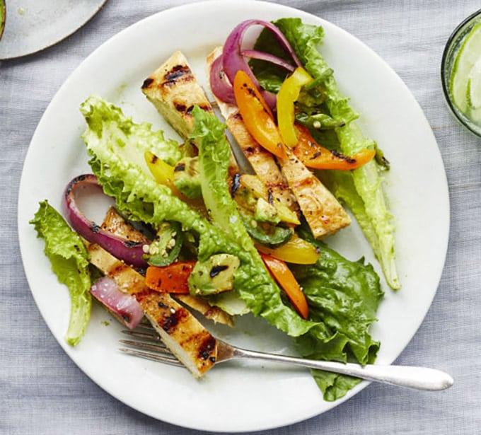 salade de poulet à la sauce au citron weight Watchers.
