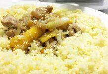 Couscous de poulet mariné et mangue