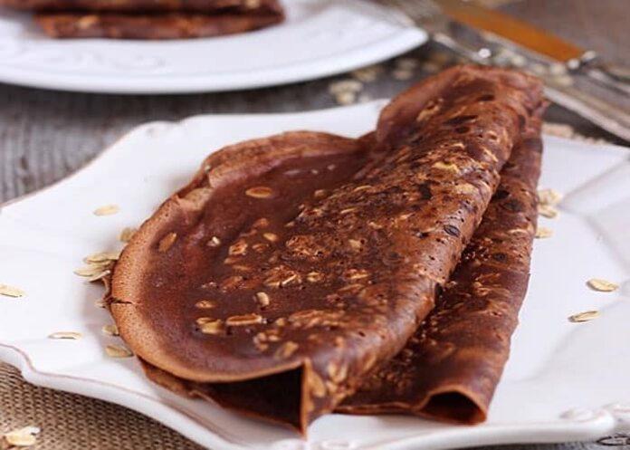 Crêpes au chocolat et son d'avoine