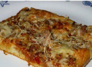 Pizza liquide au thon avec Thermomix
