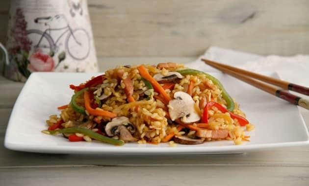 Riz thaï aux légumes léger