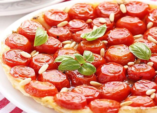 Tarte aux tomates cerises Weight Watchers