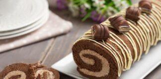 Gâteau roulé au Kinder Bueno avec Thermomix