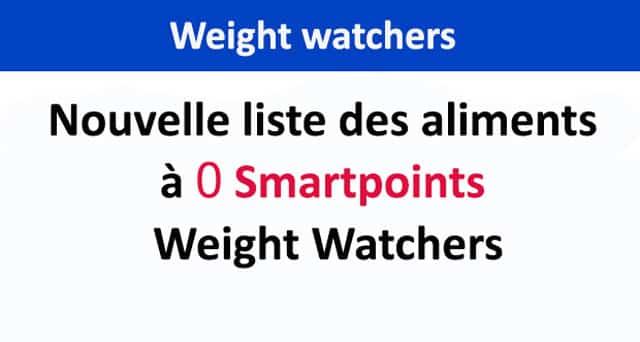 Nouvelleliste des aliments à 0 Smartpoints Weight Watchers