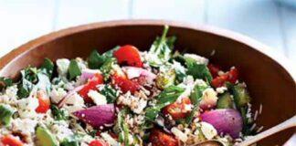 Salade d'orge et de riz à la méditerranéenne