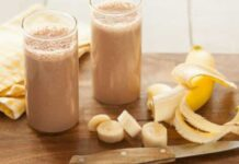 Smoothie à la banane et au chocolat Weight Watchers