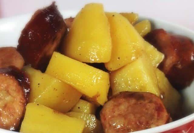 rougail saucisse et pomme de terre avec Cookéo