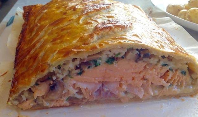 Feuilleté au saumon avec Thermomix