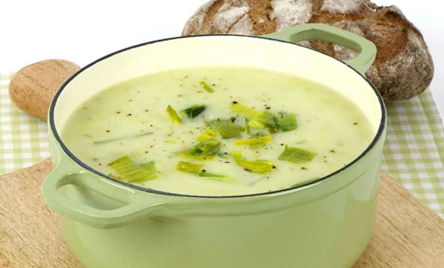 Soupe de poireaux au boursin WW