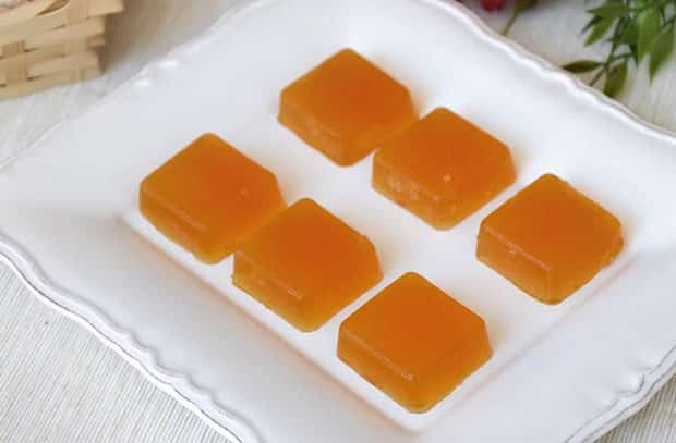 bonbons gélifiés à l'orange au Thermomix