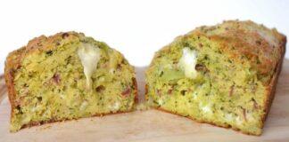 cake au brocoli, jamon et mozzarella avec Thermomix